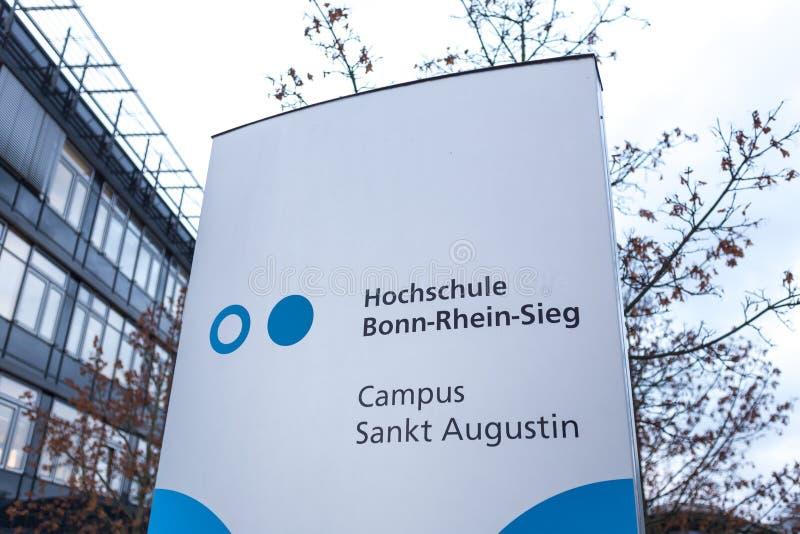 Sankt Augustin, Nordrhein-Westfalen/Deutschland - 09 11 18: sieg Bonns Rhein Universität im sankt Augustin Deutschland stockbilder