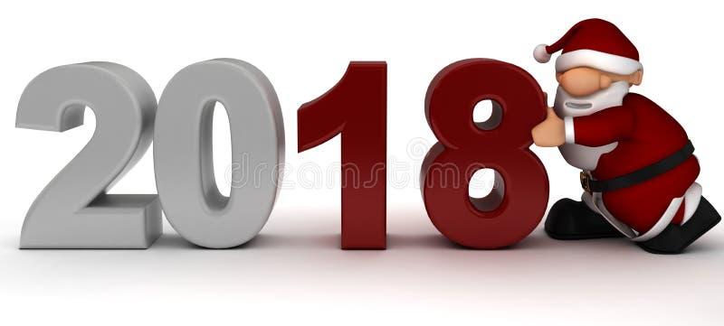 Sankt, die in das neue Jahr holt lizenzfreie abbildung