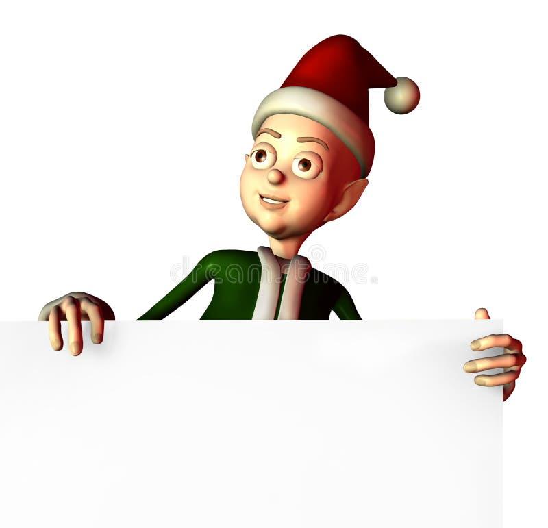 Sankt Elf-Holding-Zeichen-Rand - enthält Ausschnittspfad vektor abbildung