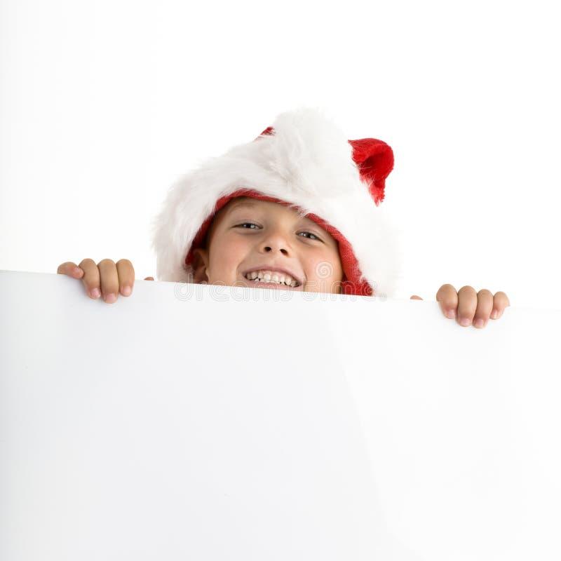 Sankt elve, das weißen Vorstand anhält stockbilder