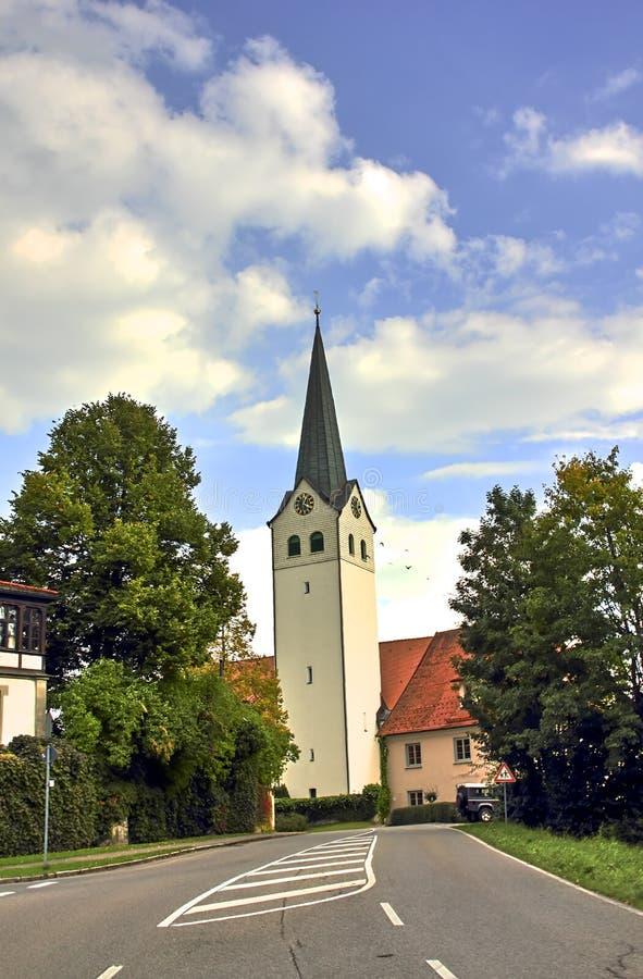 Sankt Georg Church Ratzenried, tour d'église dans l'entrée de village, hl de ¼ d'ArgenbÃ, Allgaeu, Bade-Wurtemberg, Allemagne photos libres de droits