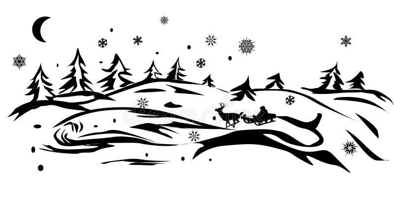 Sankt im Winterwald stock abbildung