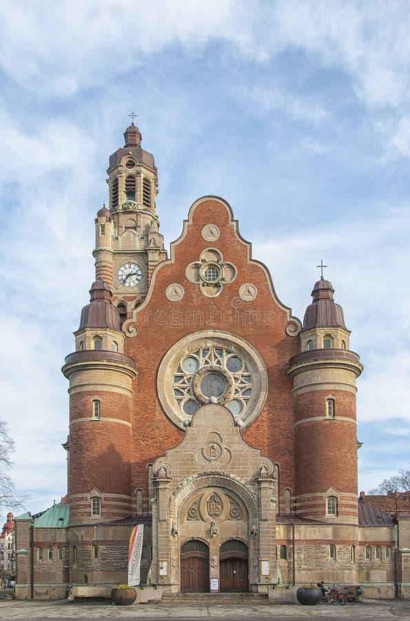 Sankt Johannes Kyrka Front Facade royaltyfri fotografi