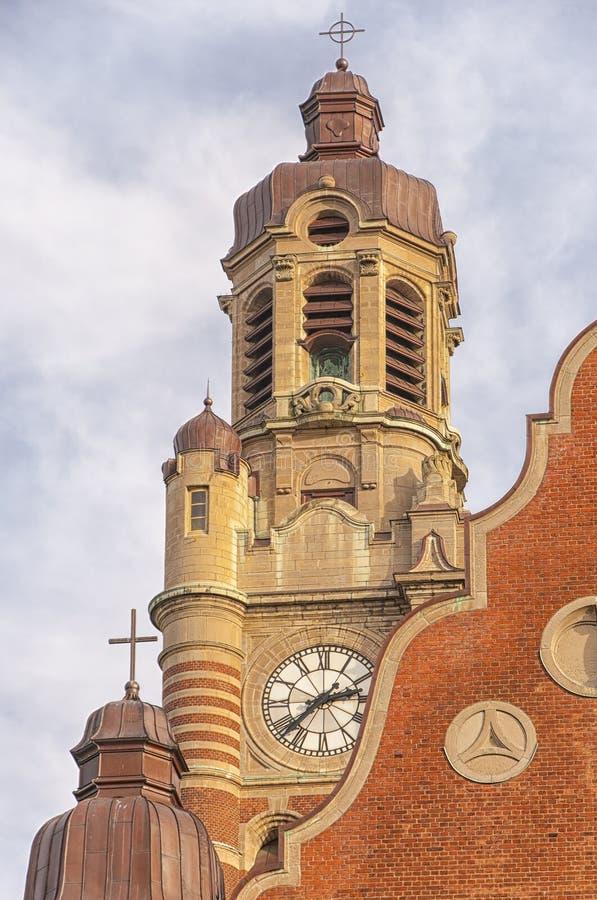 Sankt Johannes Kyrkas Belltower royaltyfri foto