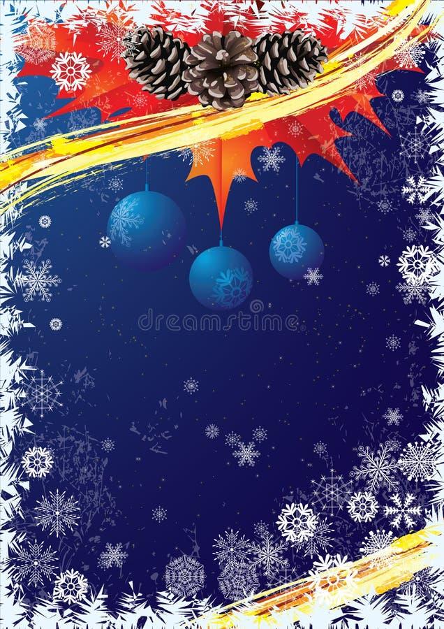 Sankt Klaus, Himmel, Frost, Beutel vektor abbildung
