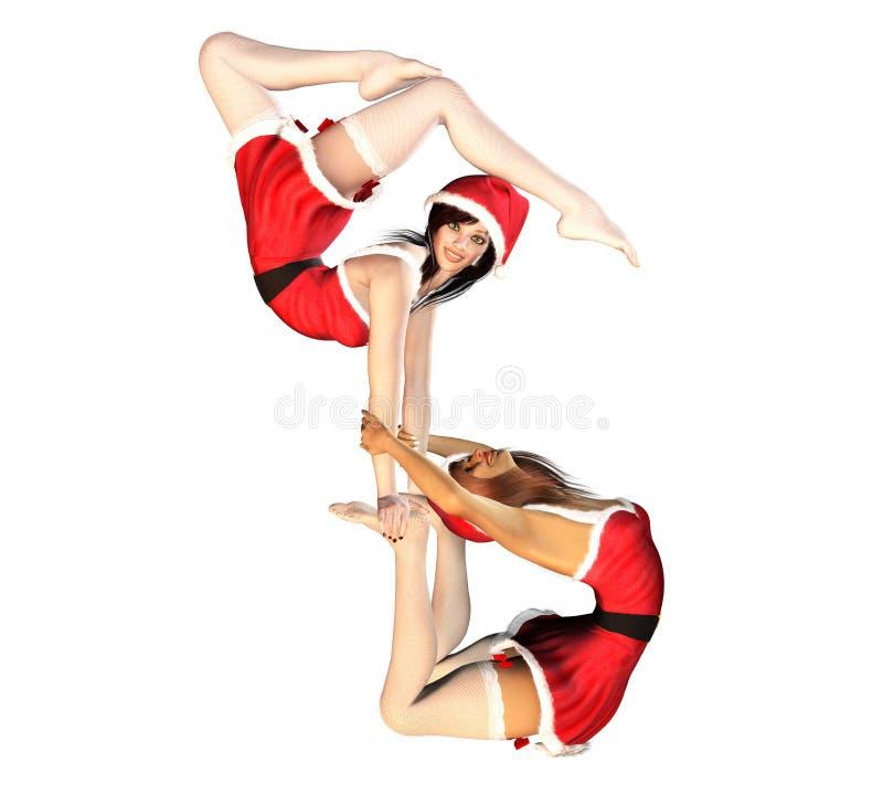 Sankt-Mädchen cirque Freunde vektor abbildung