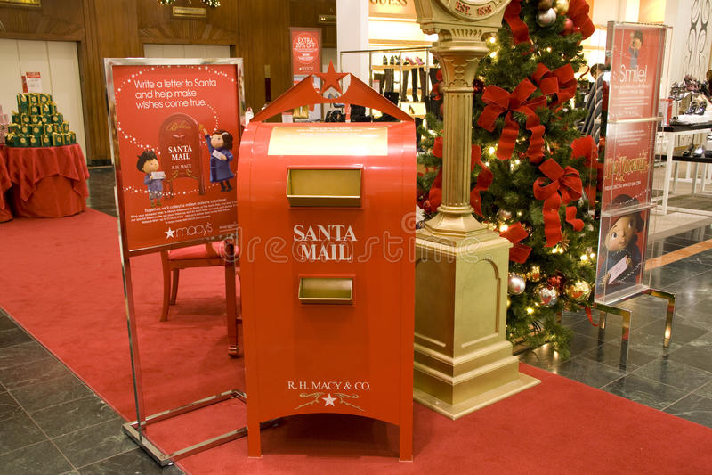 Sankt-Mailbox in Macys Seattle lizenzfreie stockbilder