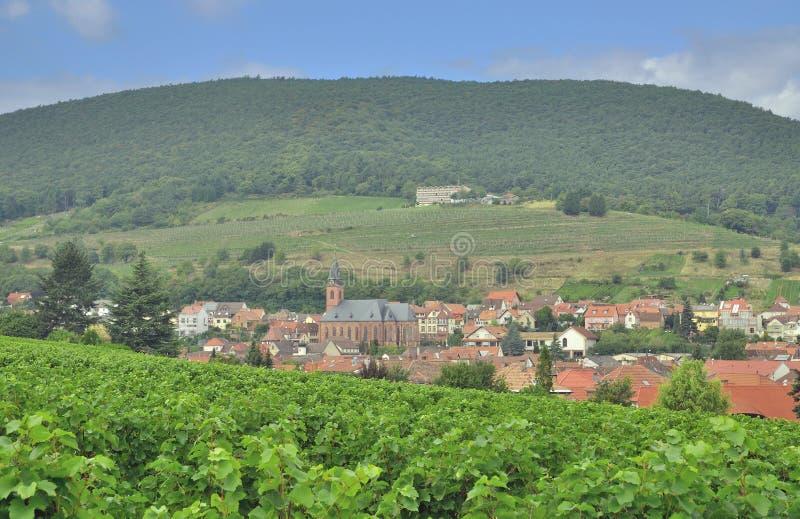 Sankt Martin, itinéraire allemand de vin, Allemagne photographie stock