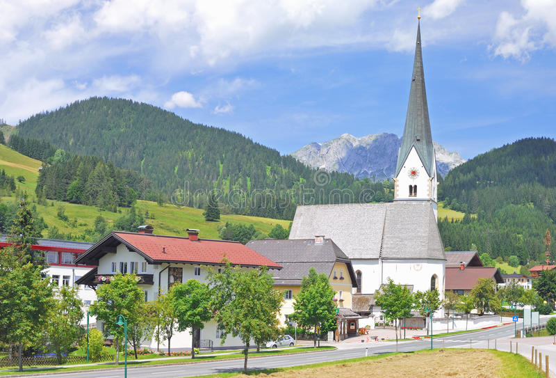Sankt Martin Tennengebirge, Austria imagen de archivo