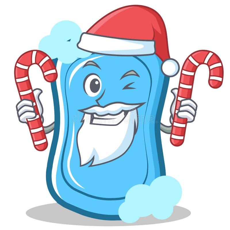 Sankt mit Seifen-Charakterkarikatur der Süßigkeit blauer lizenzfreie abbildung
