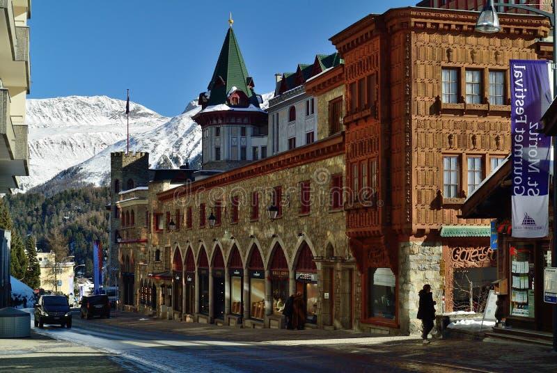 Sankt Moritz royalty free stock image
