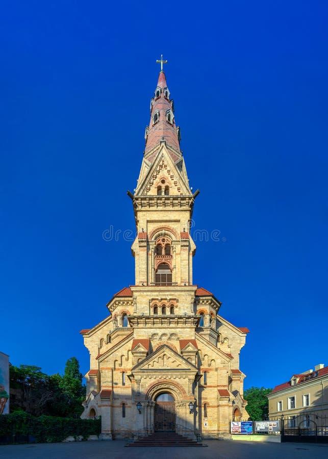 Sankt Paul i Odessa, Ukraina, С hurch arkivfoto