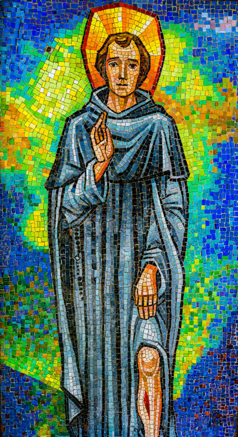Sankt Peregrine relikskrin royaltyfri fotografi