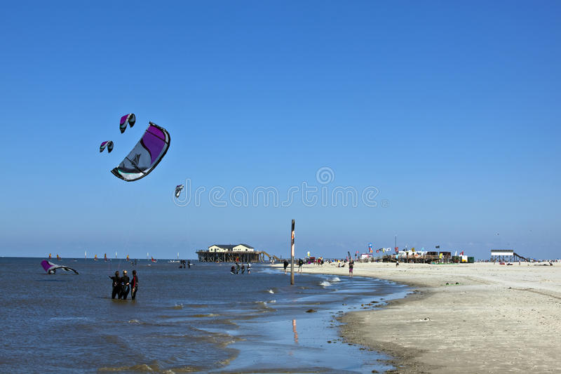 Sankt Peter-Ording stockbild