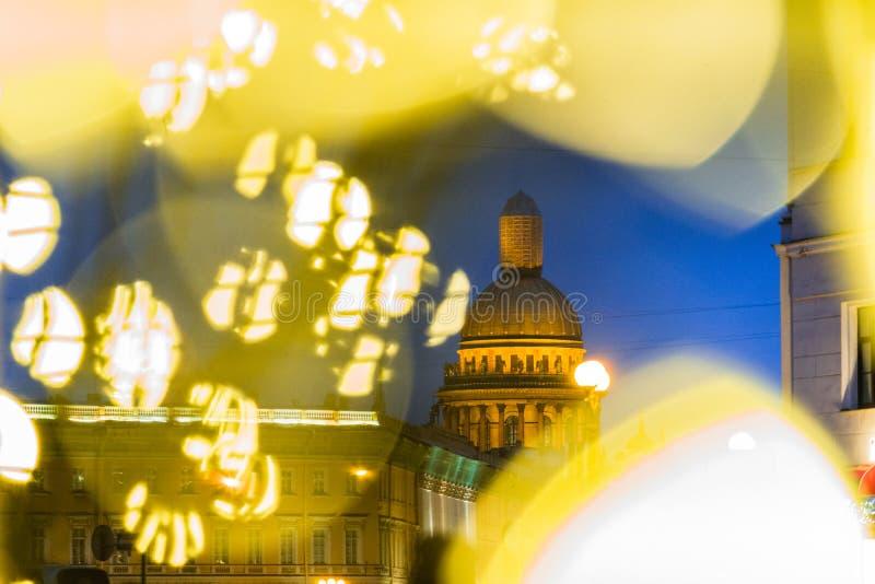 Sankt-Peterburg zimy krajobraz zdjęcie royalty free