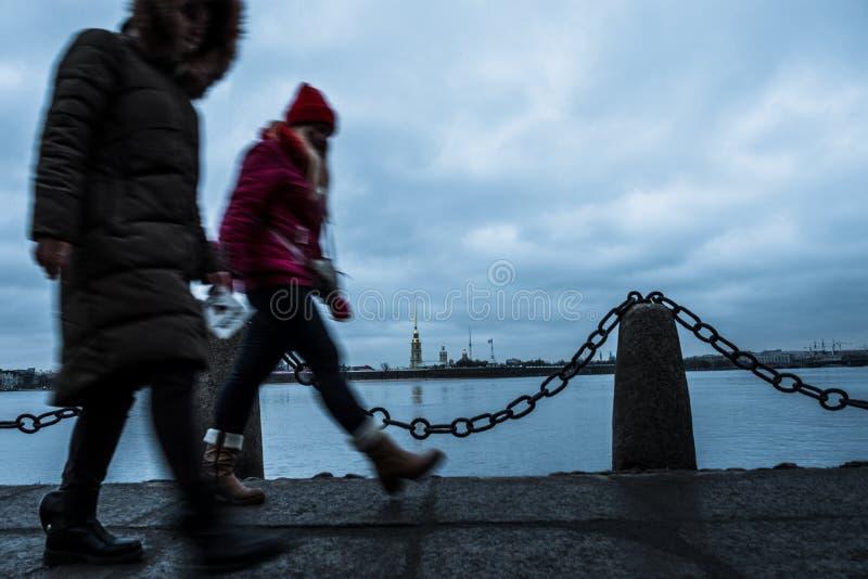 Sankt-Peterburg zimy krajobraz obraz stock