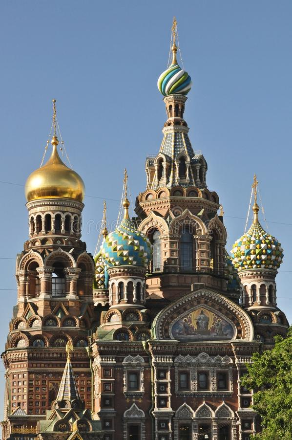 Sankt Petersburg church of the spilled blood royalty free stock photo