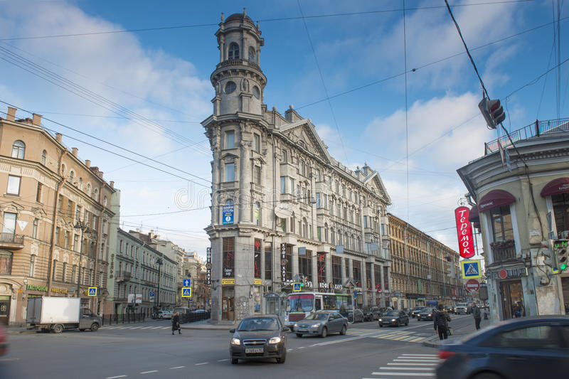 Sankt Petersburg gata royaltyfri fotografi
