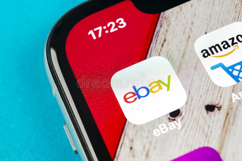 Ebay Application Icon On Apple Iphone X Screen Close Up Ebay App Icon Ebay Com Is Largest Online Auction And Shopping Websites Editorial Photography Image Of Economy Apple 126845252
