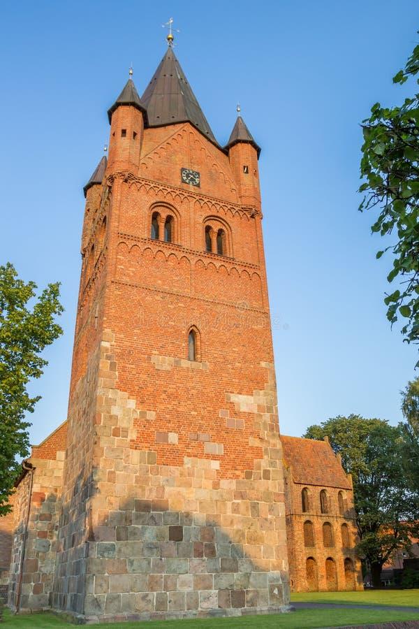 Sankt Petri Church von Westerstede in Niedersachsen stockbild