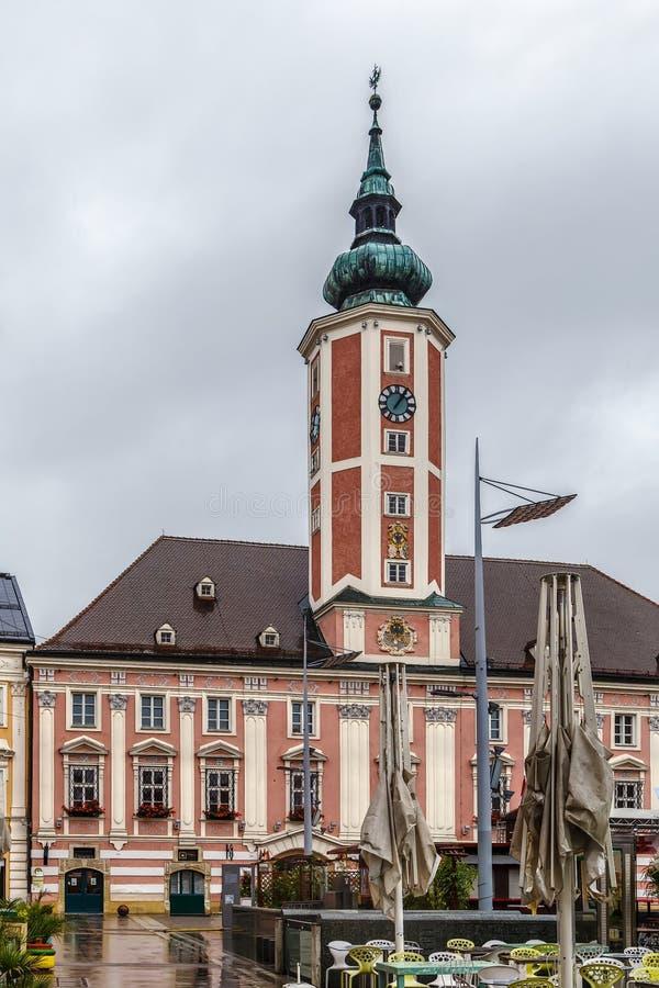Sankt Polten stadshus, Österrike arkivfoto