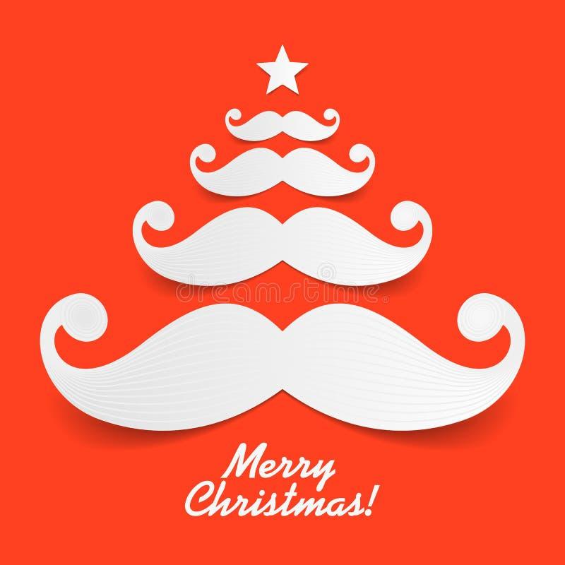 Sankt Schnurrbart Weihnachtsbaum vektor abbildung