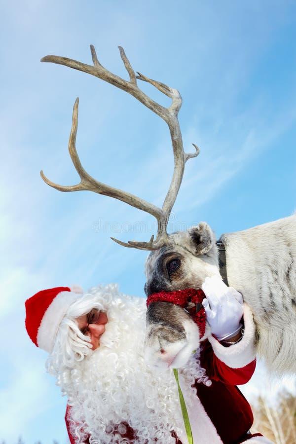 Sankt und Rudolph lizenzfreies stockfoto