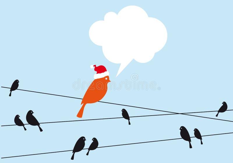 Sankt-Vogel auf Draht, Vektor vektor abbildung