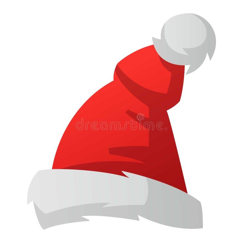 Sankt-Weihnachtshut-Vektorillustration vektor abbildung