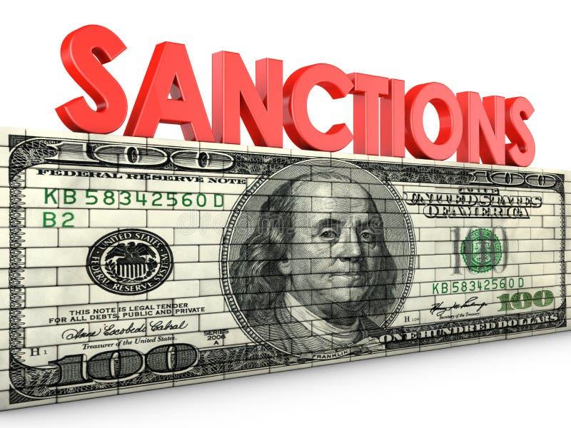 sanktionen vektor abbildung