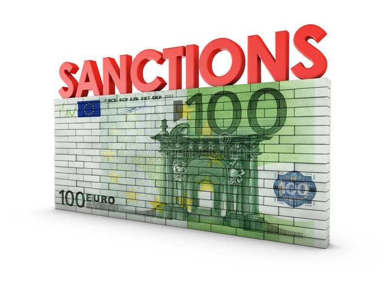 sanktionen lizenzfreie abbildung