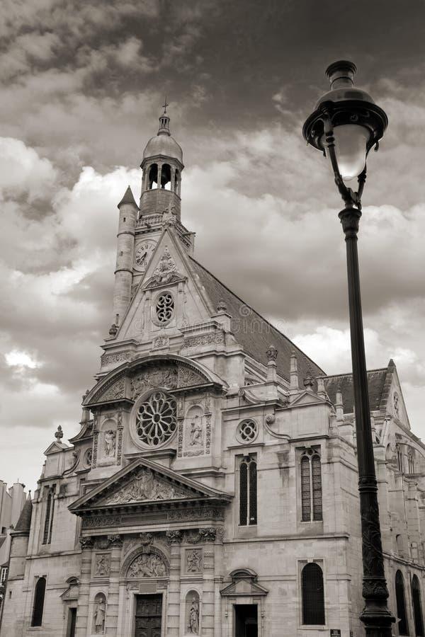 Sanktt-Etienne-du-Mont. arkivbild