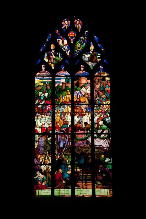 Sanktt Malo kyrka royaltyfria bilder