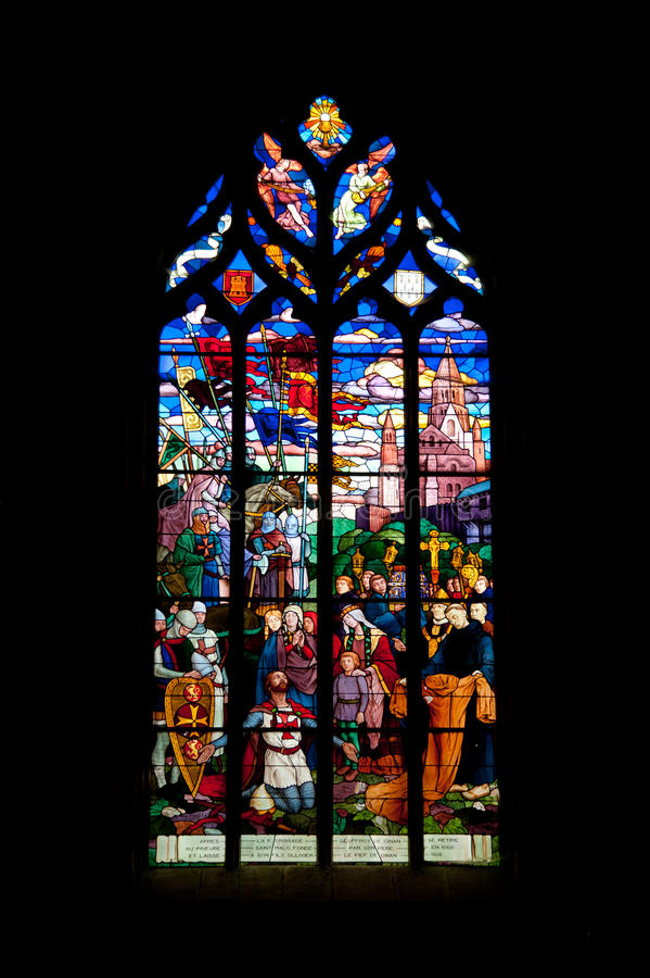 Sanktt Malo kyrka royaltyfria foton
