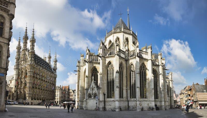 Sanktt Peter kyrkliga Leuven Belgien royaltyfria foton