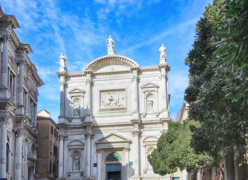 Sanktt Roch Scuola Stor di San Rocco arkivbilder