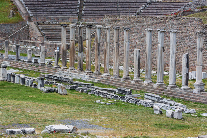 Sanktuarium Asclepius, Pergamon, Bergama, Izmir prowincja, Turcja obraz royalty free