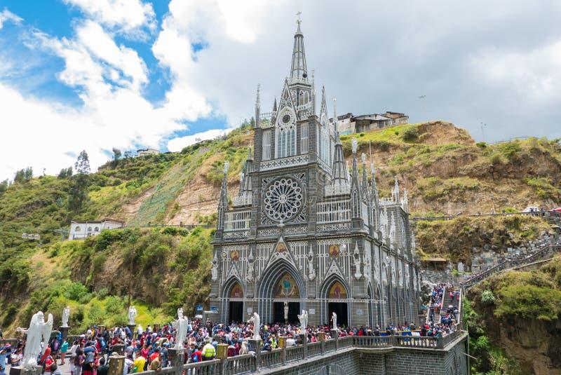 Sanktuarium Las Lajas podczas Świętego tygodnia Ipiales Kolumbia obraz stock
