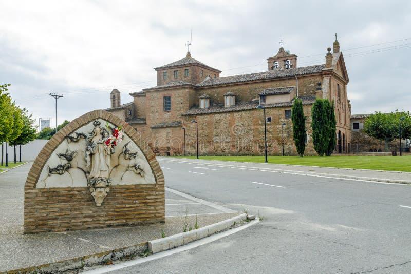 Sanktuarium Nasz dama Carmen, Calahorra. obraz stock