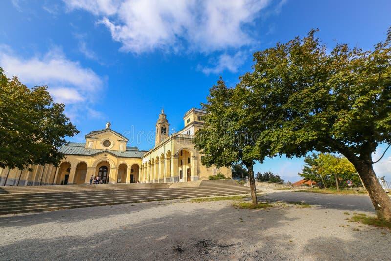 Sanktuarium Nostra Signora della Guardia blisko genuy fotografia royalty free