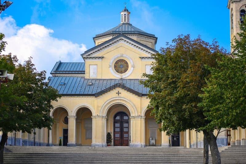 Sanktuarium Nostra Signora della Guardia blisko genuy obraz royalty free