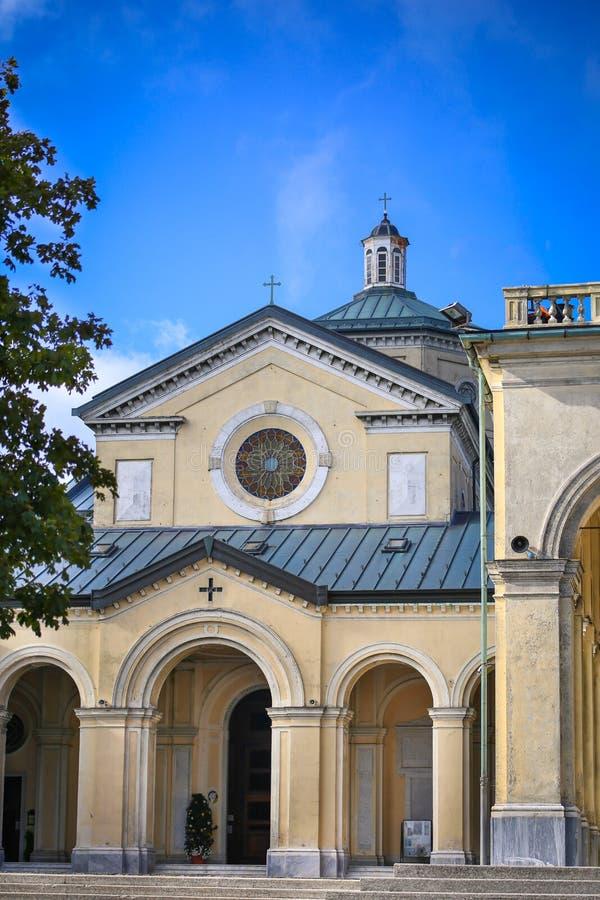 Sanktuarium Nostra Signora della Guardia blisko genuy obrazy royalty free