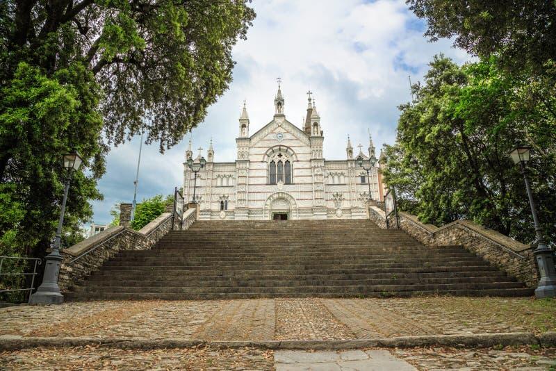 Sanktuarium Nostra Signora Di Montallegro w Rapallo zdjęcie royalty free