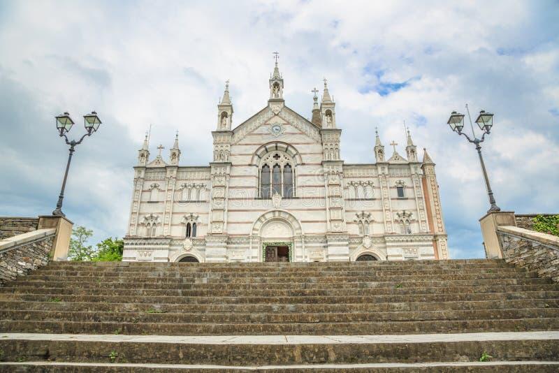 Sanktuarium Nostra Signora Di Montallegro w Rapallo zdjęcia royalty free