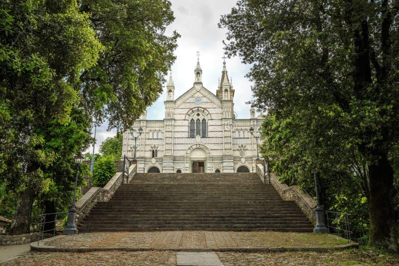 Sanktuarium Nostra Signora Di Montallegro w Rapallo zdjęcie stock