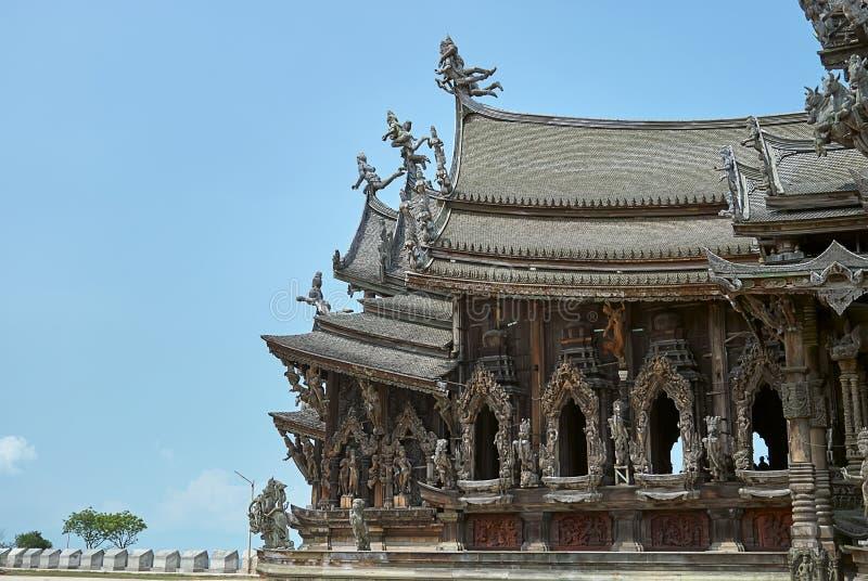 Sanktuarium prawda w Pattaya Thailand obraz stock