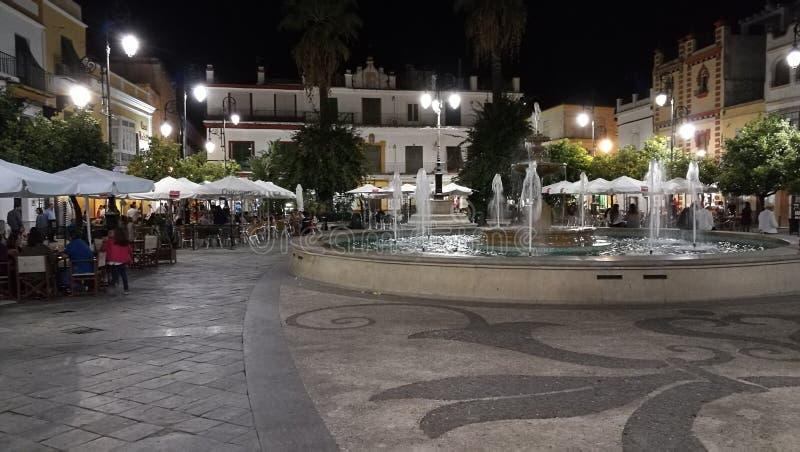 Sanlúcar de Barrameda - Plaza del Cabildo photos stock