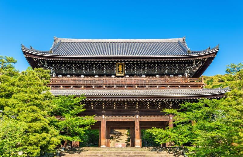 Sanmonpoort van chion-in Tempel in Kyoto royalty-vrije stock fotografie