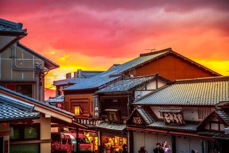 Sannen-zaka Południowy Higashiyama obraz royalty free