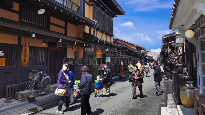Sannomachi gata Takayama royaltyfria bilder